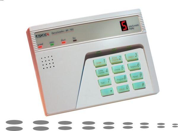 Alarm keypad + backlight
