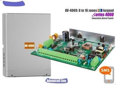 בקרה מתקדמת AV4009 Alarm control panel