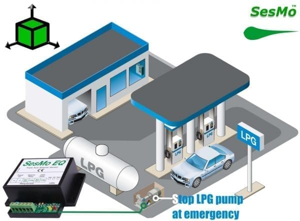 LPG station earthquake switch